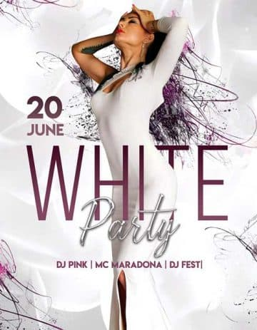 Free Elegant White Party Flyer Template