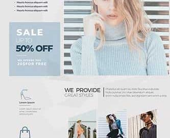 Free Fashion Sale Flyer Template