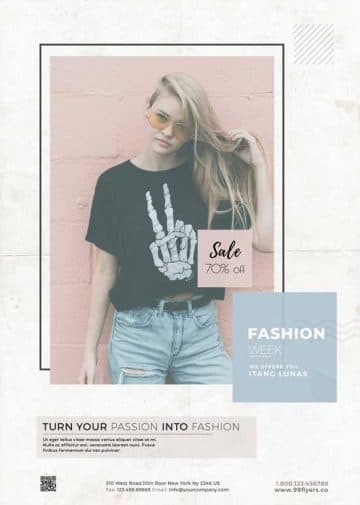 Free Fashion Week Party Flyer Template