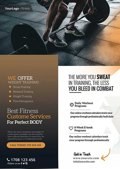 Free Fitness And Gym Flyer Template