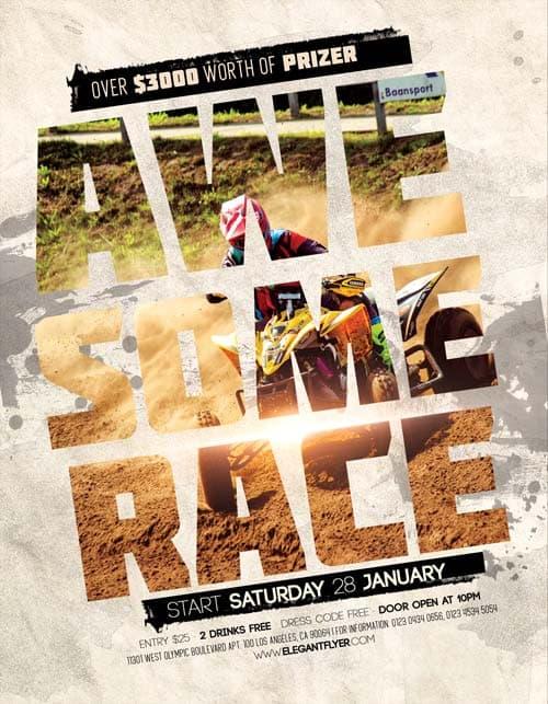 Free Motocross Race Flyer Template