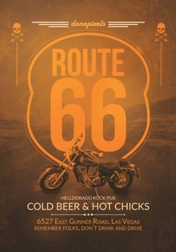 Free Route 66 Flyer Template