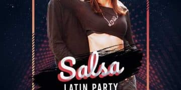 Free Salsa Latin Party Flyer Template