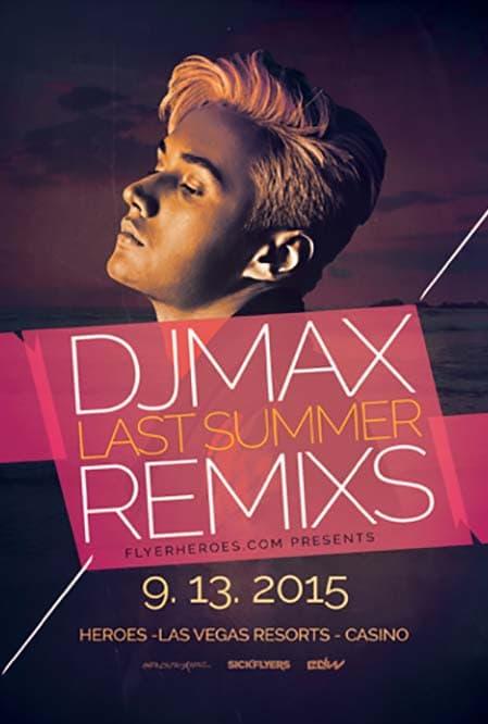 House Remixes Free DJ Flyer Template