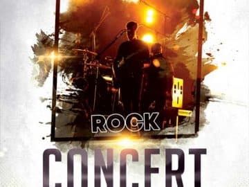 Rock Alternative Concert Free Flyer Template