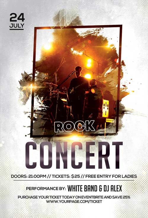 Rock Alternative Concert Free Flyer Template