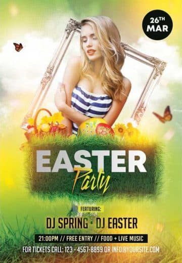 Spring Easter Party Free Flyer Template