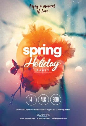 Spring Party Free Flyer Template