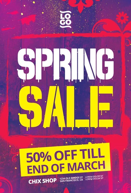 Spring Sale Free Flyer Template