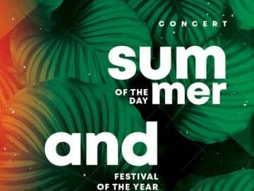 Summer Festival Free Flyer Template