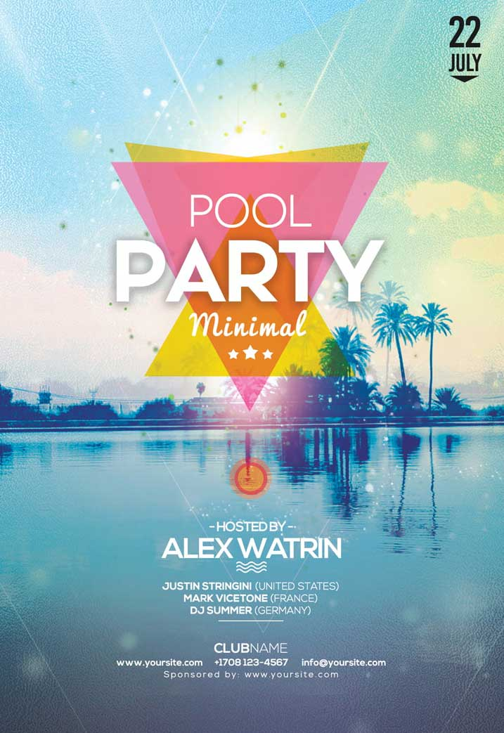 Summer Pool Party Free Flyer Template