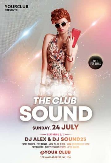 The Club Sound Party Free Flyer Template