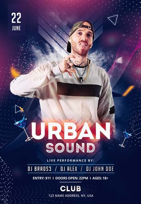 Urban Party Free Dj Flyer Template