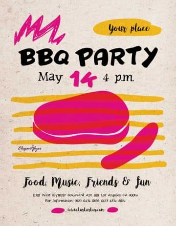 BBQ Event Free Flyer Template