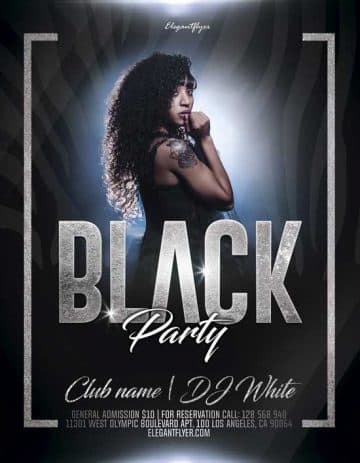 Black Mood Free Party Flyer Template