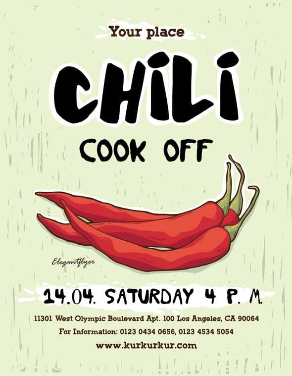 Chili Cook Off Free Flyer Template