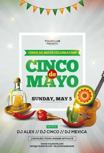 Cinco de Mayo Celebration Free Party Flyer Template
