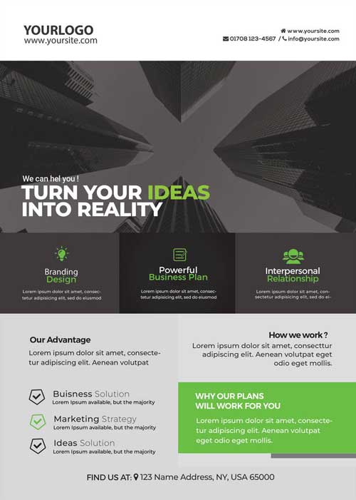 Corporate Business Free Flyer and Poster Template