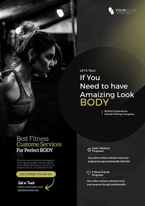 Creative Fitness Free Gym Flyer Template