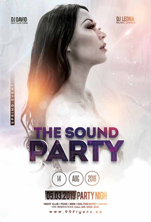 Electro DJ Sound Free Party Flyer Template