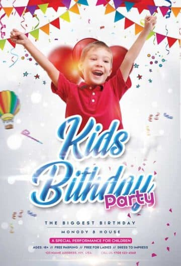 Free Birthday Kids Event Flyer Template