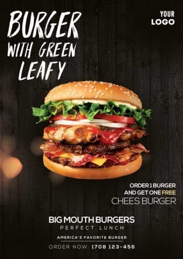 Free Burger Ad Flyer Template