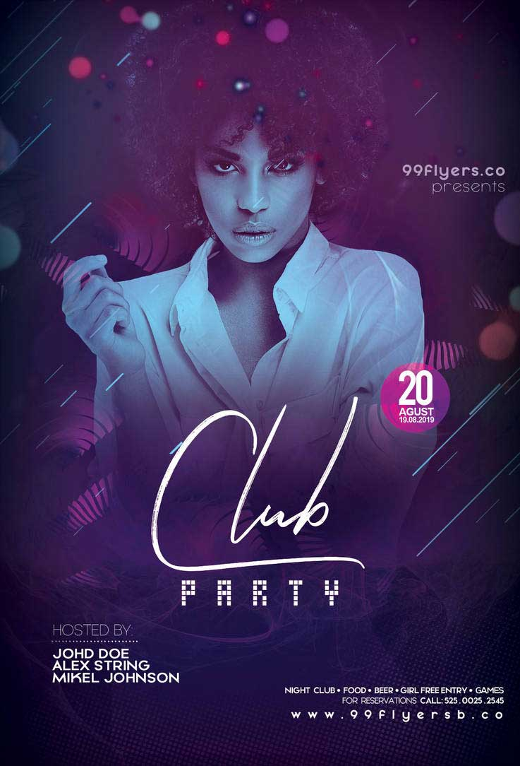 Free Club DJ Party Flyer Template