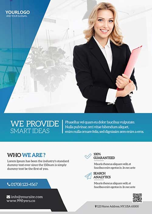 Free Creative Agency Flyer and Poster Template
