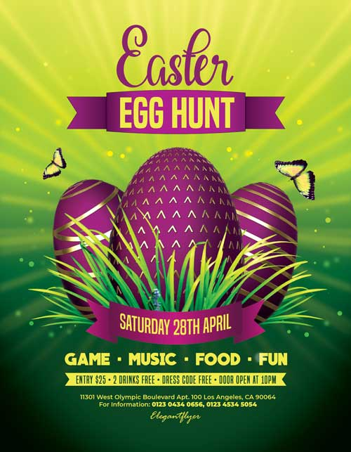 Free Easter Egg Hunt Flyer Template