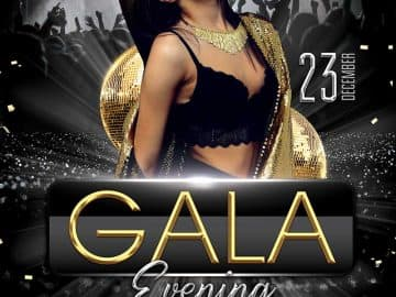 Free Gala Evening Party Flyer Template