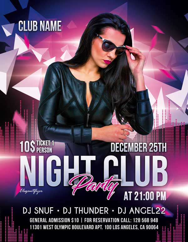 Free Night Club Party Flyer Template