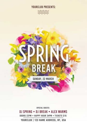 Free Spring Break Flyer Template