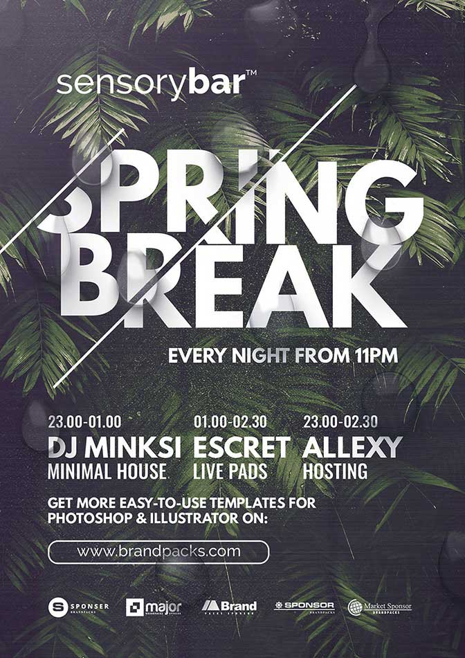 Free Spring Nightclub Flyer Template