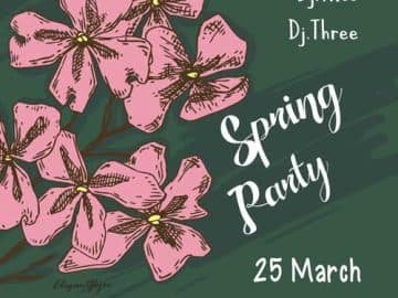Free Spring Party Flyer Template