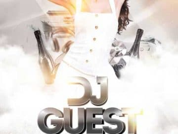 Guest DJ Night Free Party Flyer Template
