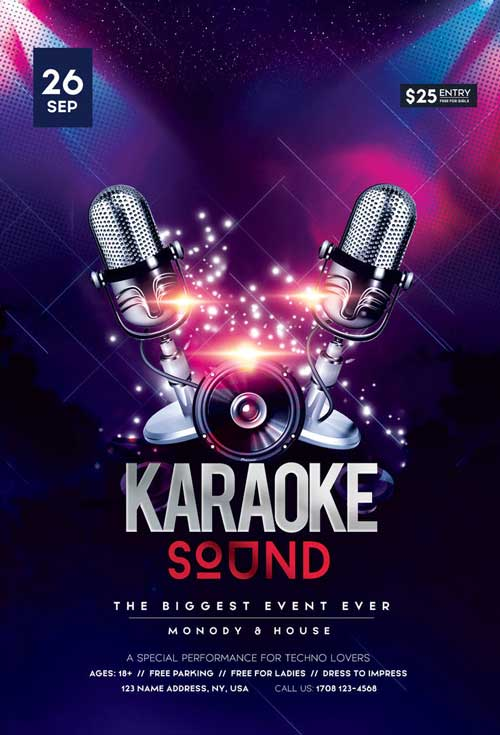 Karaoke Sound Free Flyer Template
