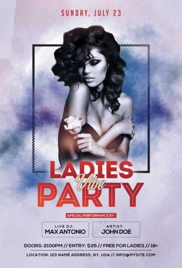 Ladies Party Free Club Flyer Template