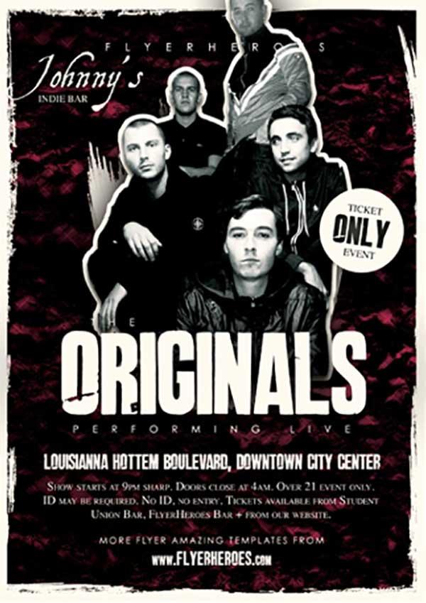 Originals Indie Band Free Flyer Template