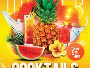 Summer Cocktails Free Party Flyer Template