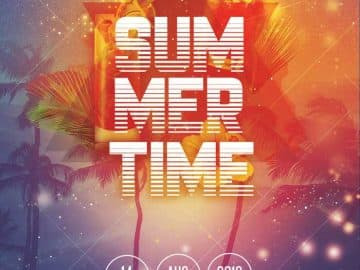 Summer Time Free Party Flyer Template