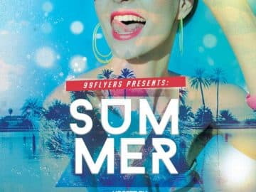 Summer Vibes Free Party Flyer Template