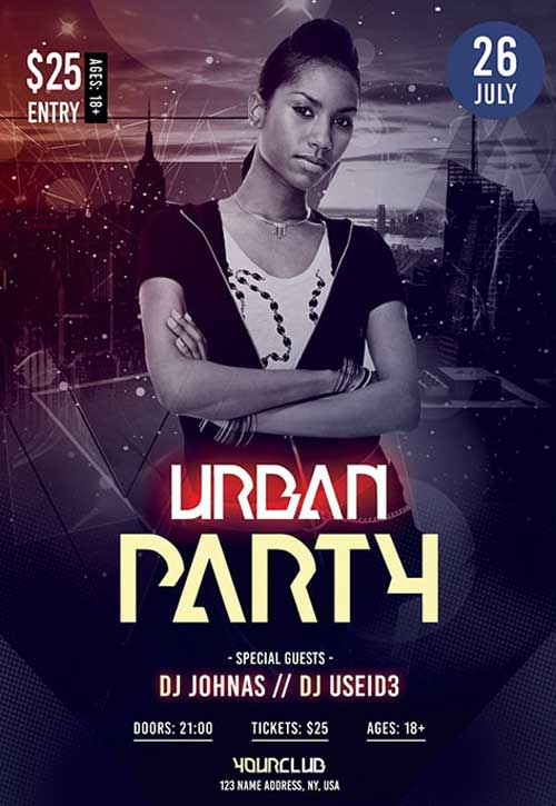 Urban Dance Free Party Flyer Template