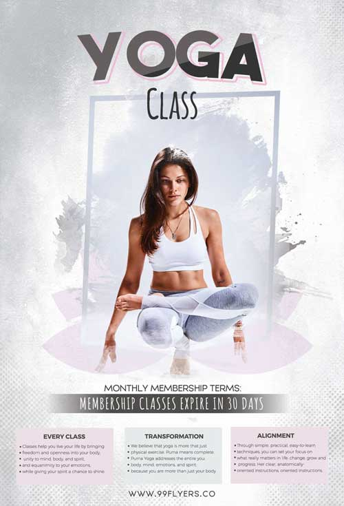 Yoga Day Free Gym Flyer Template