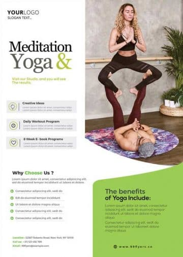 Yoga Workout Free Gym Flyer Template