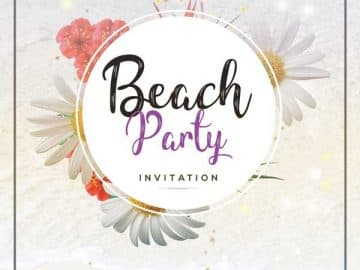 Beach Summer Free Party Flyer Template