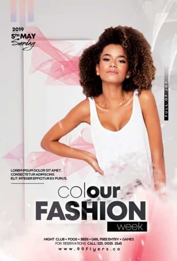 Color Fashion Week Free Flyer Template