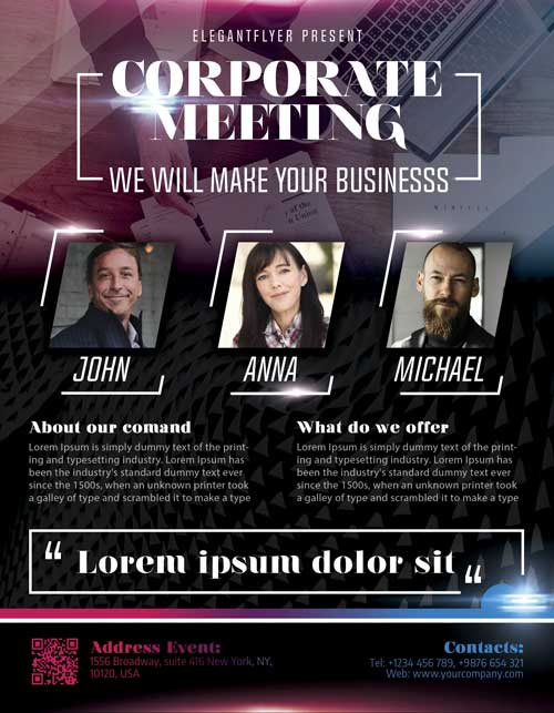 Corporate Meeting Free Flyer Template