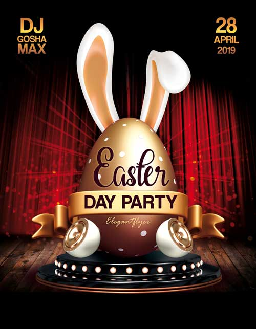 Easter Day Party Free Flyer Template