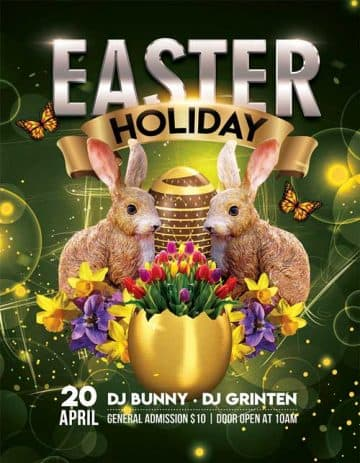 Easter Holiday Party Free Flyer Template