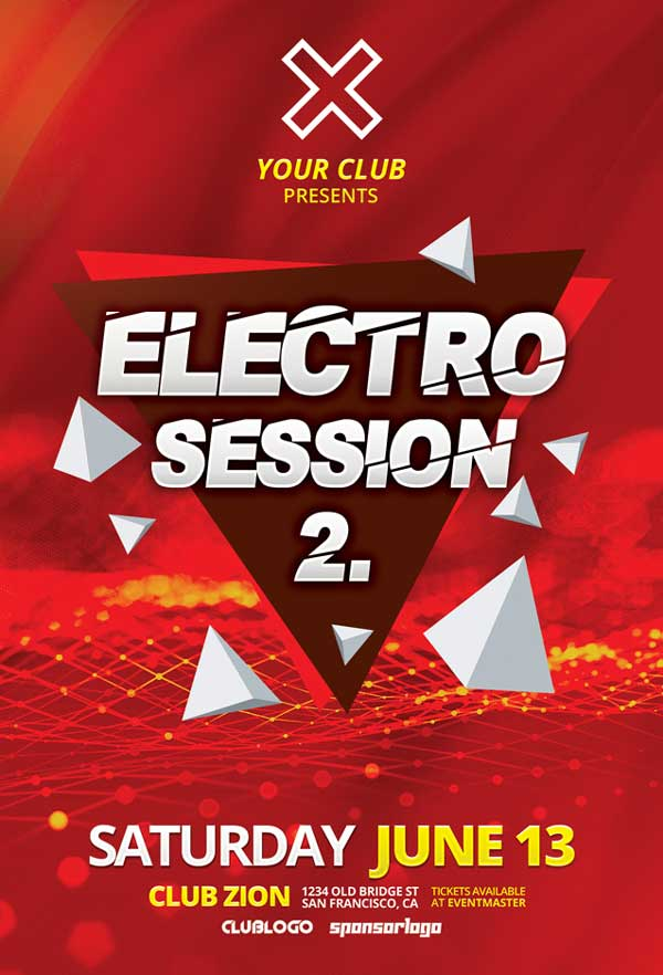 Electro Club Session Vol. 2 Free Flyer Template